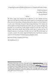 Competencia y Desempeño Escolar: El Caso de Chile