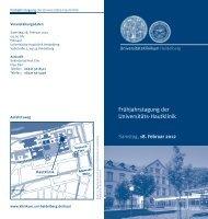Frühjahrstagung der Universitäts-Hautklinik - UniversitätsKlinikum ...