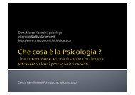 Psicologia - Marco Vicentini
