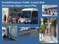 Foothill/Seminary Public Transit Hub Streetscape Improvement Plan