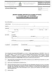 (SCIA - Segnalazione Certificata Inizio Attivit\340) - Comune di ...