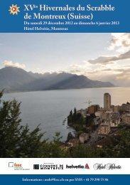 XVes Hivernales du Scrabble de Montreux (Suisse) - Fédération ...
