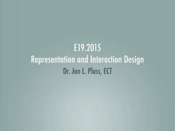 E19.2015 Representation and Interaction Design - create