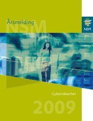 Årsmelding for 2009 - NSM