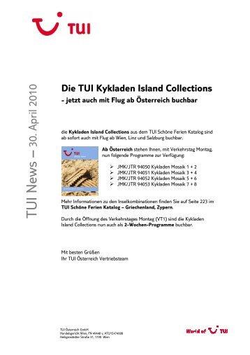 2010-04-30 TUI - Die TUI Kykladen Island Collections bei TUI Austria