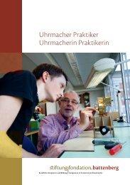 Uhrmacher Praktiker Uhrmacherin Praktikerin - Stiftung Fondation ...