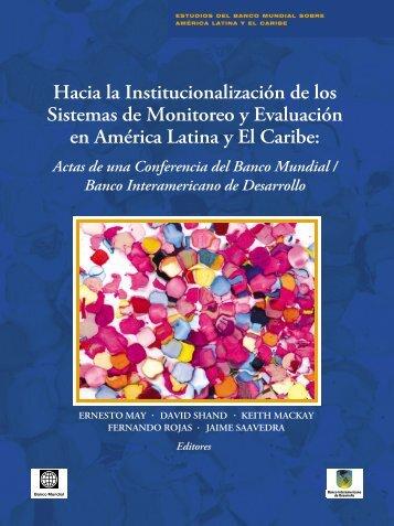 Hacia la Institucionalización de los Sistemas de ... - World Bank