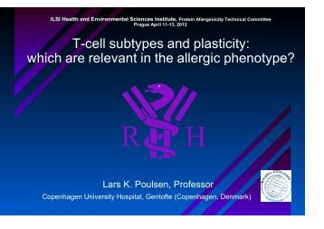 T-cell subtypes and plasticity: which are relevant in the allergic ...