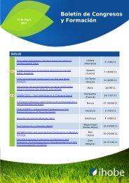 Boletín de Congresos y Formación - Ihobe