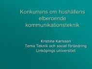 Kristina Karlsson, Li