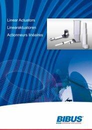 Linear Actuators Linearaktuatoren Actionneurs ... - BIBUS France