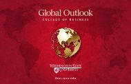 Global Outlook - College of Business - Washington State University