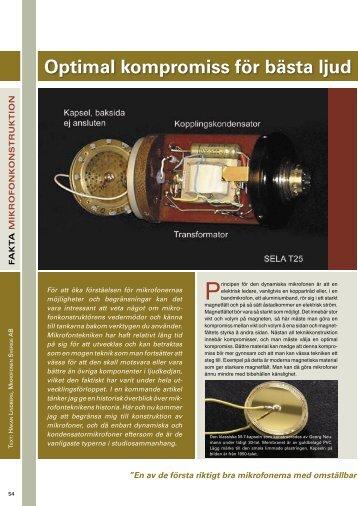 Mikrofonkonstruktion - Microtech Gefell