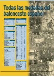 Todas las medallas del baloncesto español - Federacion Española ...
