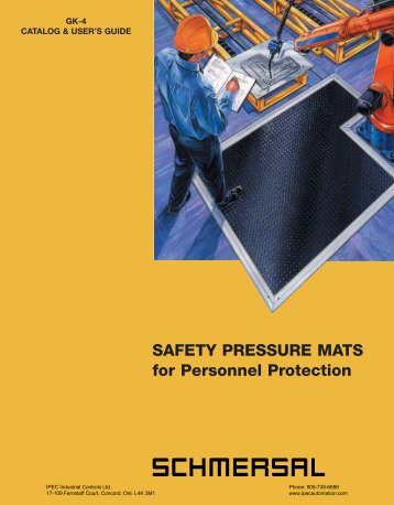 SAFETY PRESSURE MATS for Personnel Protection