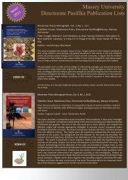 Massey University Directorate Pasifika Publication Lists