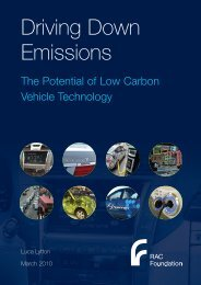 Driving Down Emissions: The Potential of Low ... - RAC Foundation
