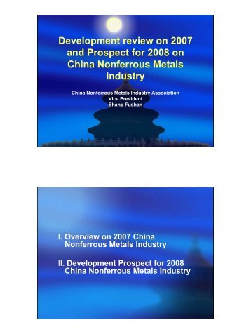 Overview on China Nonferrous Metals Industry - International Nickel ...