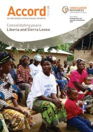 Consolidating peace Liberia and Sierra Leone - Conciliation ...