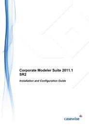 CM 2011.1 SR2 Installation Guide - Casewise