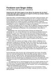 Publicerad i Arbetsliv nr 2/2007. - neij.se