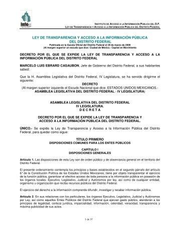 ley de transparencia y acceso a la información pública del distrito ...