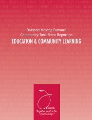education & community learning - Oakland Unified School District