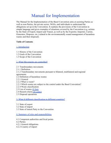 basel convention manual.pdf - National Toxics Network