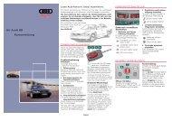 Ihr Audi S8 Kurzanleitung