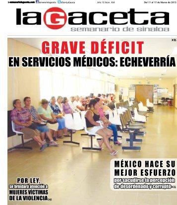 GRAVE DÉFICIT - SEMANARIO LA GACETA