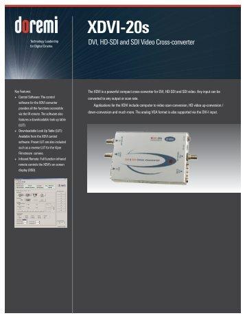 XDVI-20s Brochure - Doremi Labs