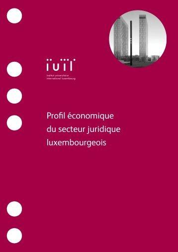 Profil économique du secteur juridique luxembourgeois - IUIL