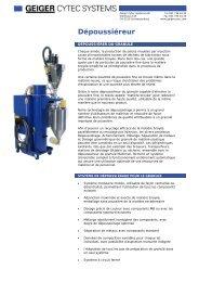 Dépoussiéreur - Geiger Cytec Systems AG