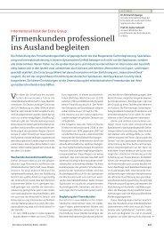 Firmenkunden professionell ins Ausland begleiten - die Basis