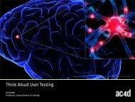Think Aloud User Testing - Austin Center for Design