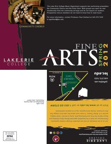 2011 Fall Fine Arts Events - Lake Erie College