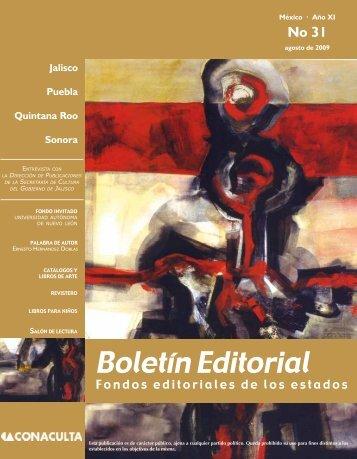 Boletín Editorial - Dirección General de Vinculación Cultural ...