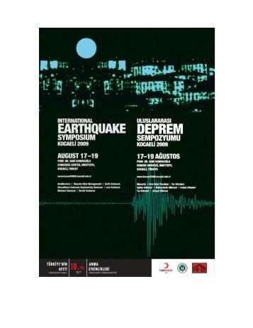 foreword - International Eartquake Symposium Kocaeli 2009