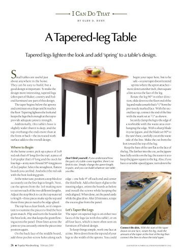 A Tapered-leg Table S