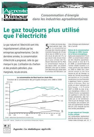 Consommation d'énergie dans les industries ... - Agreste