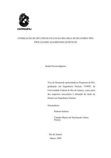 Rafael Pereira Baptista - Programa de Engenharia Nuclear - UFRJ