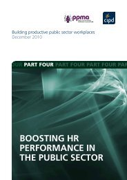 Boosting hr performance in the puBlic sector - CIPD