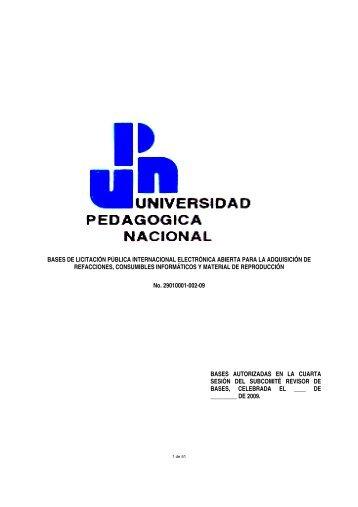 bases de licitación pública internacional electrónica abierta para la ...