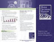 New! MDM Tri-fold Brochure (pdf) - Motor Decisions Matter