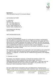 up-Basis-Vorlage A4 mit Firmendaten in Fußzeile - up-Umweltpionier