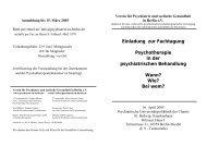 Einladung zur Fachtagung Psychotherapie in der psychiatrischen ...