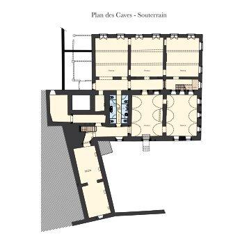 Plan des Caves - Souterrain - Reliplan