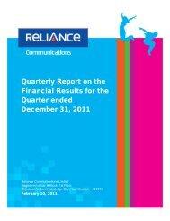 3 rd Quarter - Reliance Communications