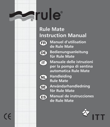 Rule Mate Instruction Manual - Seatronic