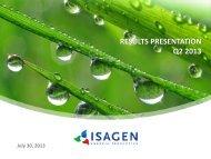 Results presentation - Isagen